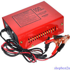 220V Automatic Electric Car Battery Charger 12/24V Intelligent Pulse LED Display