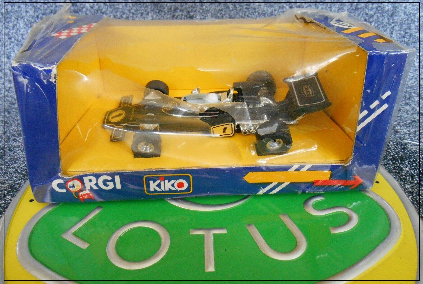 Lotus 72 Kiko Corgi Brasil 154 S-550 Fittipaldi Peterson en Caja F1 Texaco JPS
