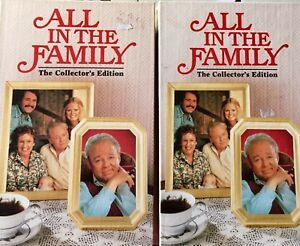 All-In-The-Family-Collector-039-s-Edition-Lot-of-2-VHS-TV-Show-Stapleton-O-039-Conner