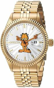 Invicta-24873-Character-Collection-Men-039-s-43mm-Gold-Tone-Steel-Silver-Dial-Watch