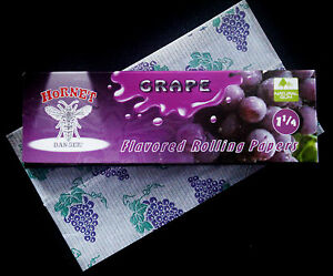 GRAPE Fruit Berry Flavoured Fruity Tobacco Cigarette Rolling Papers 50 Leaves