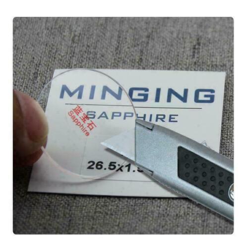 1.5mm Dick 26-40mm Rund Flach Qualität Saphir Uhr Glaskristall Ersatz
