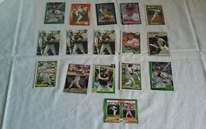 Lot-of-16-Jose-Canseco-Baseball-Cards-Topps-Fleer-Score-Donruss-80s-90s-A-039-s