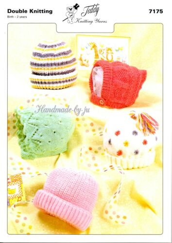 Teddy Knitting Pattern Baby Toddler Childrens or Hats snood mittens using DK