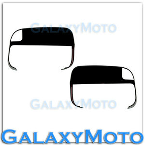 Gloss-Black-Top-Half-Tow-Towing-Mirror-Cover-for-10-18-Dodge-RAM-2500-3500-HD