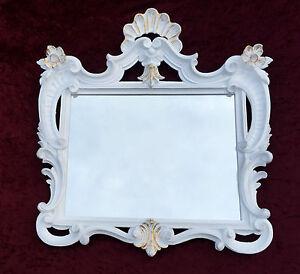 Espejos Arte Y Antigüedades Espejo De Pared Antiguo Rectangular Oro Baño 60x57 Shabby C494 Mirror