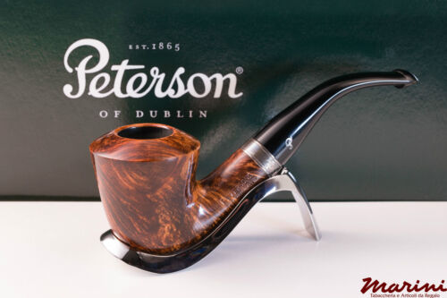 PIPA PIPE pfeife PETERSON OF DUBLIN WICKLOW B10 CURVA RADICA ORIGINALE SILVER