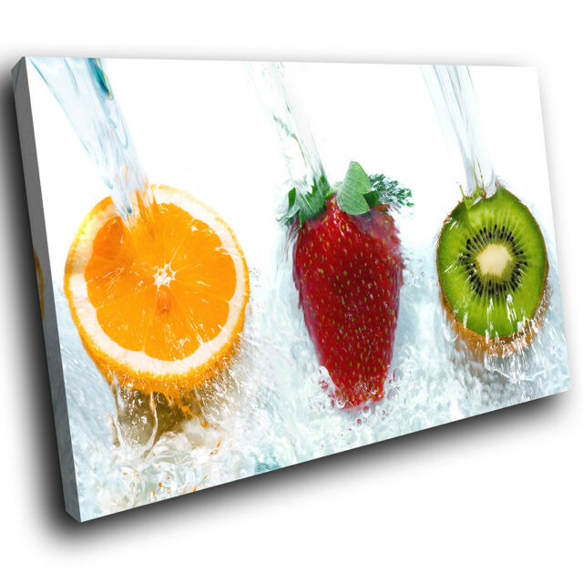 Ab204 Red Orange Green Fruit Modern Abstract Canvas Wall Art Cool Picture Prints