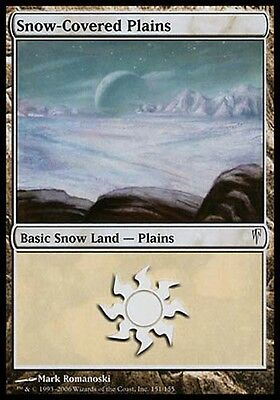 1x Snow-Covered Plains Ice Age MtG Magic Land Common 1 x1 Card Cards