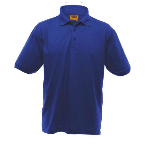 BC1195 UCC 50//50 Mens Heavyweight Plain Pique Short Sleeve Polo Shirt