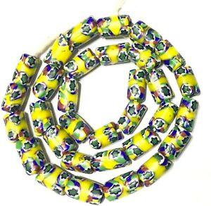 Fine-Antique-Venetian-Glass-Millefiori-banded-African-Trade-Beads