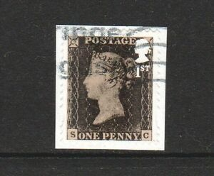 GREAT-BRITAIN-2015-PENNY-BLACK-175TH-ANNIV-SELF-ADHESIVE-1-STAMP-SG-3709-USED