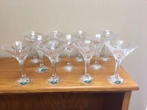 NEW-Shannon-Crystal-Lead-Cut-Glass-Pineapple-Design-Martini-Glasses