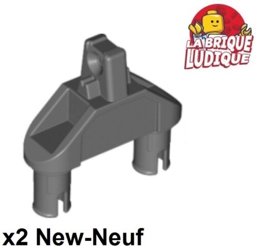 Lego 2x Charnière hinge 1x3 triangle pin connecteur gris f//d b gray 47973 NEUF