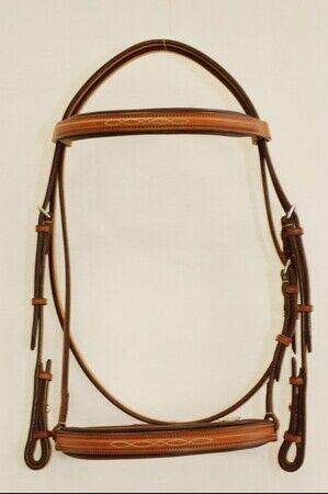 Edgewood Raised Padded Fancy Stitch Bridle with Padded Crown  34
