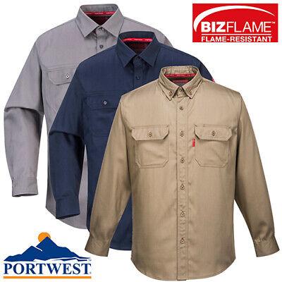 Portwest Bizflame Crew Neck Flame Wear ARC Resistant Welding FR01