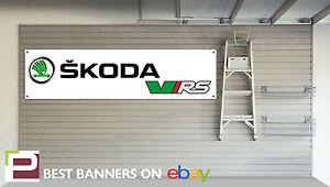 Skoda VRS Workshop Garage Banner Fabia, Octavia