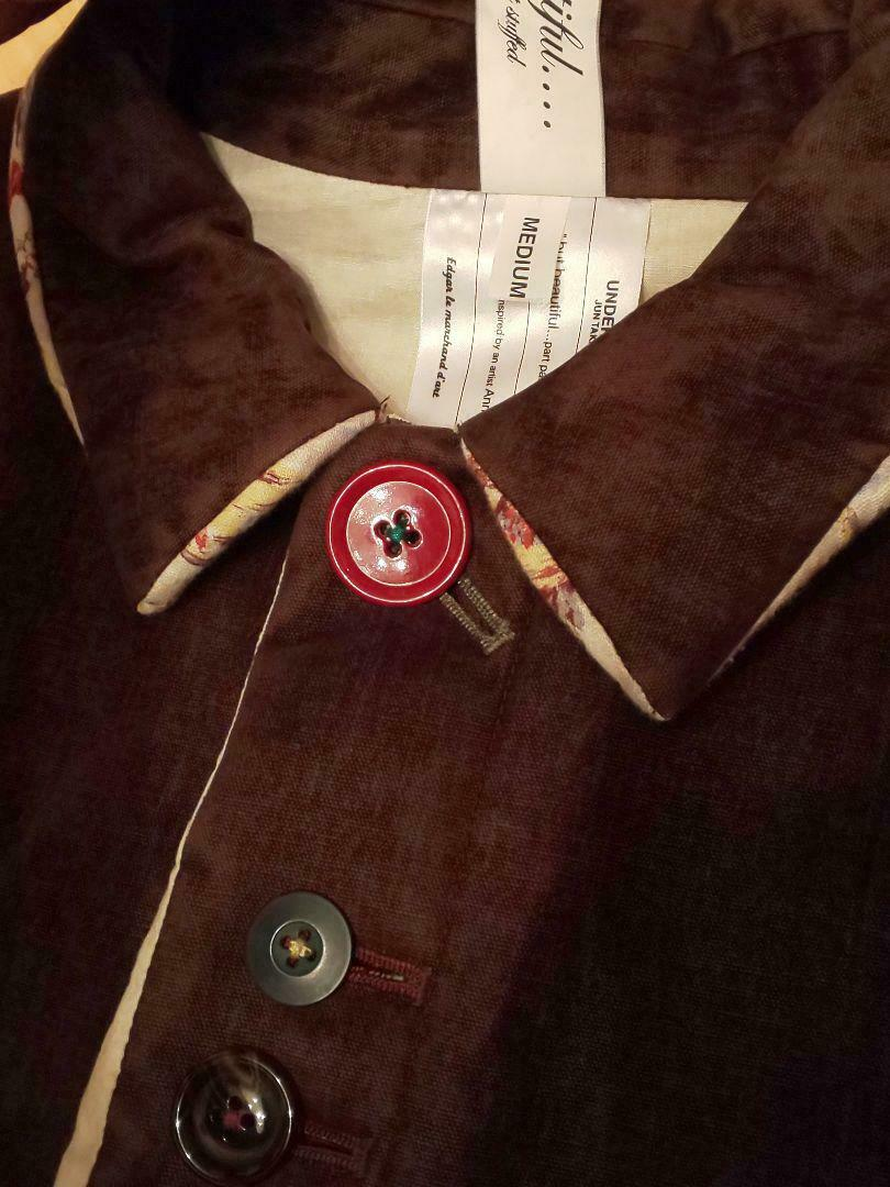 UNDERCOVER but beautiful Button Coat size M Brown… - image 4