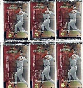 6 new baseball PACKs - 1999 UPPER DECK MVP game used je
