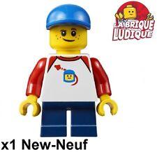 Lego - Figurine Minifig petit garçon small boy casquette rouge/red cty662 NEUF