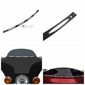 Black 4-Slot Windshield Trim for Harley Touring Tri Glide Classic 1996-2013