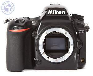 Nikon-D750-24-3MP-Camera-Reflex-Numerique-Boitier-Seulement-defectueux-de-degats-d-039-eau