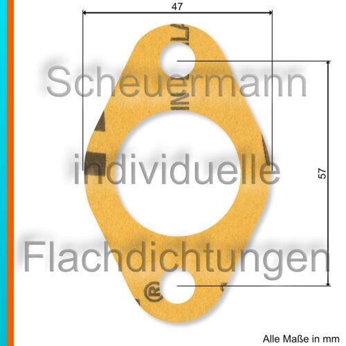 Lasergeschnittene Vergaserfuß-Dichtung für Opel P4,1,2L,Kadett,Olympia Typ 3500