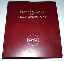 Vtg Coca Cola Coke Soda Employee Field Operations Ring Binder Promo Rare 1960 a1