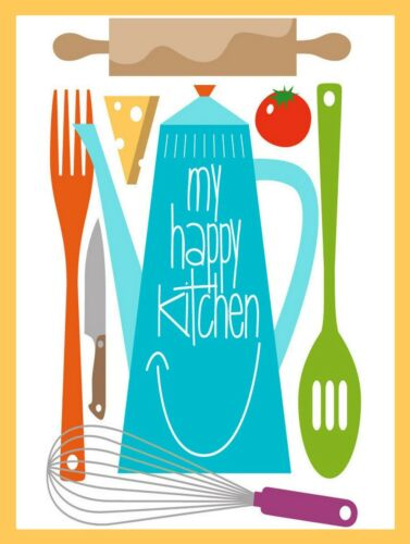 Retro metal Sign//Plaque Wall vintage My Happy Kitchen Kitchen Gift