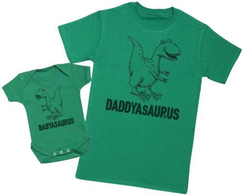 Daddysaurus /& Babysaurus Baby Gift Set Father /& Baby Bodysuit Gift Set