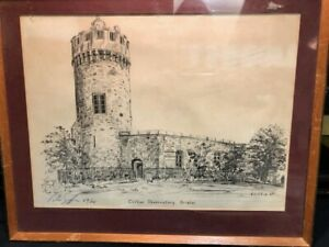 Griffin  - Signed 1969 and numbered Graphite Drawing Clifton Observatory Bristol