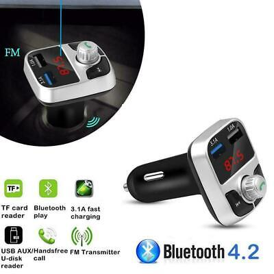 Wireless Bluetooth4.2 Car Stereo Radio Kit FM Transmitter MP3 Player USB Charger