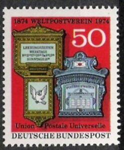 Volontaire Bund Nº 825 ** 100 Ans Union Postale Universelle 1974, Cachet-hfr-fr Afficher Le Titre D'origine Les Consommateurs D'Abord