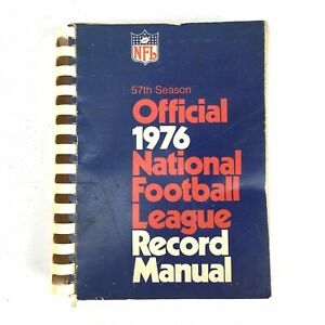 1976-Official-National-Football-League-NFL-Record-Manual