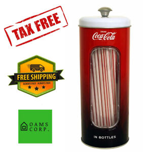 Coke Holder Tin Straws 50 Pack 2019 Version Coca Cola Collectible  Storage Party