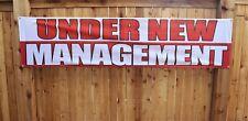 Under New Management Banner Sign Now Open Store Restaurant Outdoor Vinyl Mesh