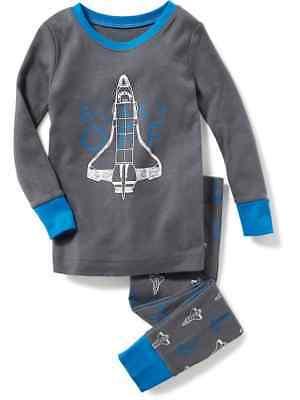 NWT Old Navy Blast Off Spaceship Rocket Sleep Set Pajamas Set PJ Boys 5T