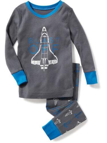 NWT Old Navy Blast Off Spaceship Sleep Set Pajamas Set PJ NEW Boys 3T 4T 5T