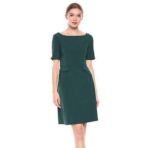 Brand Lark /& Ro Womens Short Sleeve Bateau Neck Sheath Dress with Pockets