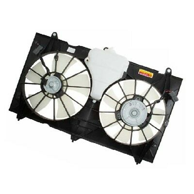 One New TYC Dual Radiator and Condenser Fan Assembly 620690 for Honda Accord