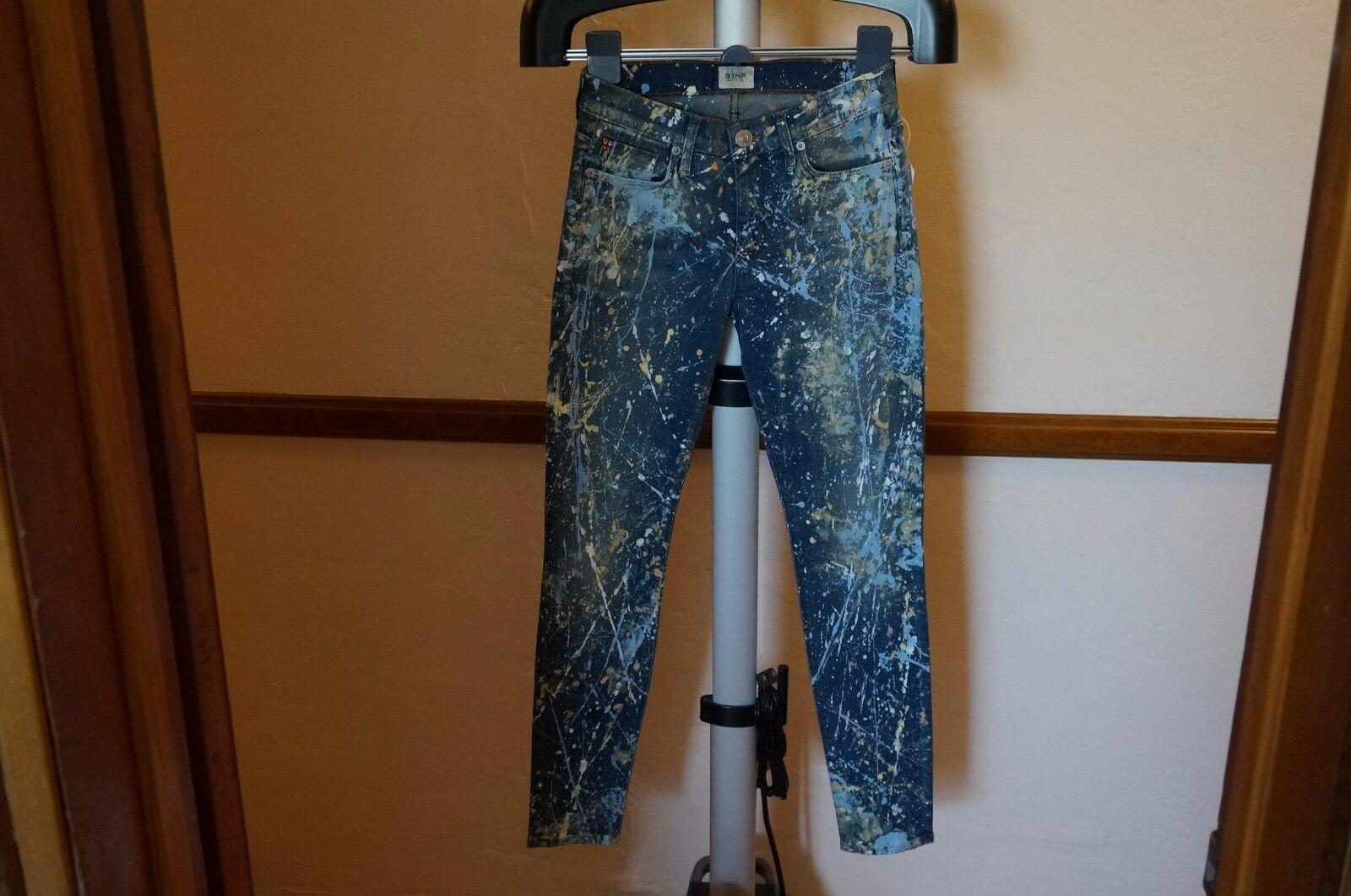 HUDSON Artisan Art Skinny Jeans 25  169 WM407DMS-ART 100% Authentic