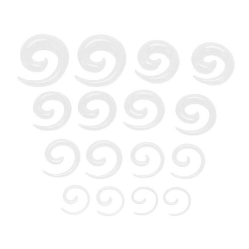 16X//Set Spiral Taper Flesh Tunnel Ear Stretcher Expander Stretching PlugsnailYJ