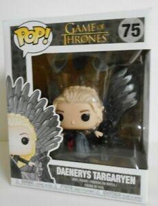 Vinyl--Game of Thrones Deluxe Daenerys on Iron Throne Pop Pop