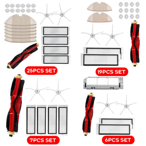 6-25PCS Brush Filter Kit For Xiaomi Roborock S6 S60 S65 S5 MAX T6 Vacuum Cleaner
