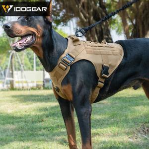 IDOGEAR Tactique Dog Vest Dog Harness w// Poignée Militaire Chien de travail Gear