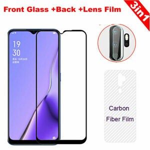 3in1 Camera Lens+Back film +Tempered Glass Screen Protector For OPPO A5 A9 2020