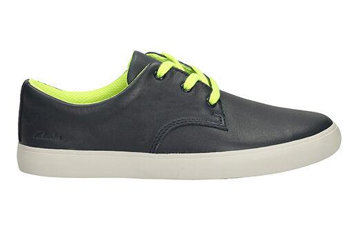 Boys Clarks STOMP ROAR Inf Black Leather School Shoes UK Size 10.5G