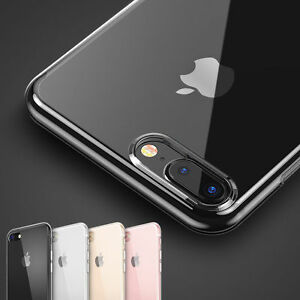buy popular 72aaa e0501 Details about Transparent Crystal Clear Case for iPhone 8 Plus 7 Plus Gel  TPU Soft Cover Skin