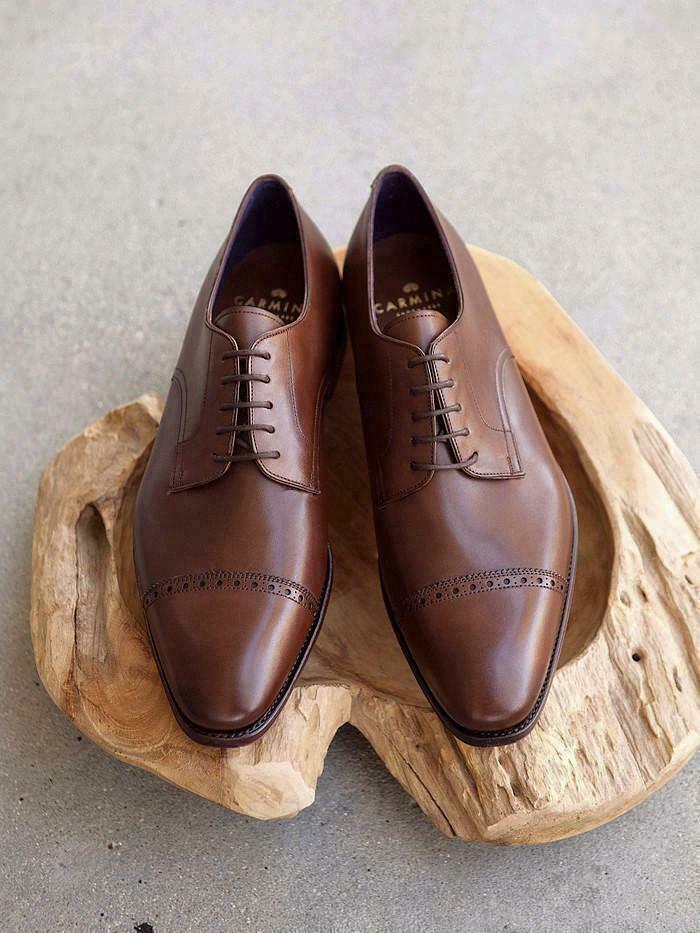 Homme Fait à la main chaussures marron en cuir Oxford Richelieu à lacets formelle porter Bottes Décontractées