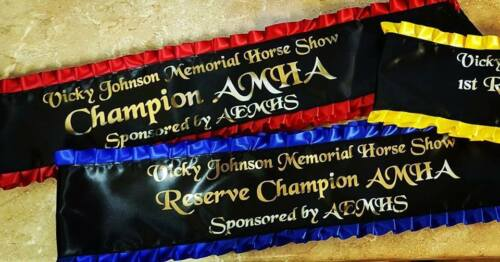 High Quality Personalised Tassel Sash Equestrian Competition All Occasions